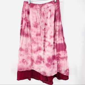 Gypsy Rose Cotton muslin tie dye festival skirt